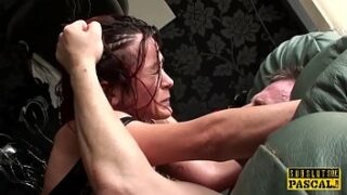 Horny wife pays debt